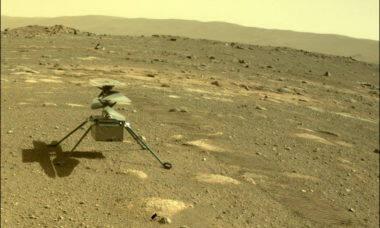 Helicóptero da Nasa sobrevive à primeira noite no frio de Marte