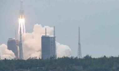 China conclui envio de nave de abastecimento para estação espacial. Foto: © China Daily