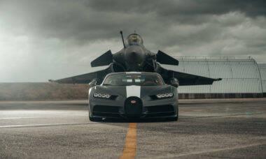 Dassault Rafale aposta corrida com um Bugatti Chiron; confira o vídeo
