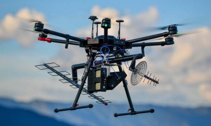 Drone com radar é usado para monitorar plantações