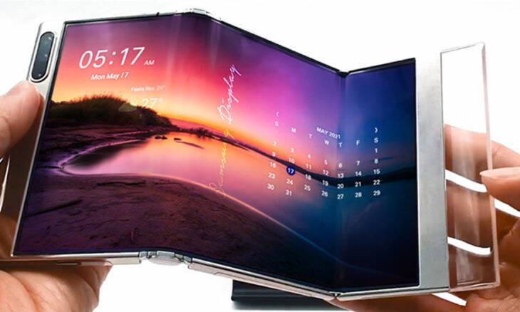 Samsung mostra dispositivo com tela dobrável em 'S'