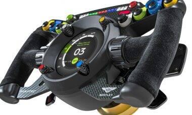 Bentley e Fanatec criam volante de simulador compatível com um carro de corrida real