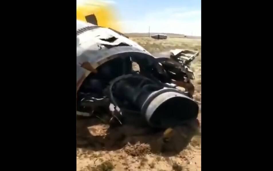 Vídeo mostra restos que seriam de foguete chinês