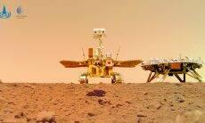 China divulga fotos coloridas da superfície de Marte
