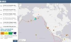 Terremoto de 8,2 graus atinge a costa oeste dos EUA e gera alerta de tsunami. Foto: Captura de tela