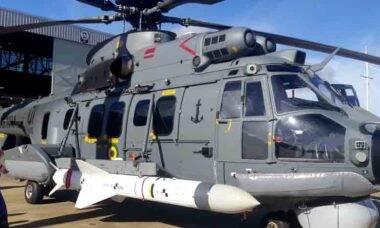 Vídeo: Certificação da FAB para o lançamento do míssil AM39 Exocet pelo helicóptero H225M Naval. Foto: Divulgação