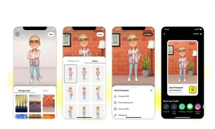 Snapchat vai permitir uso de Bitmoji 3D no perfil
