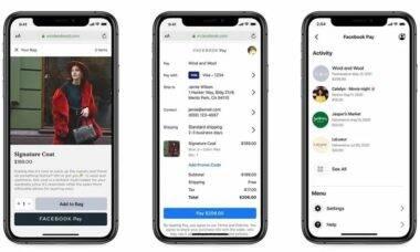 Facebook Pay irá se estender também para compras online