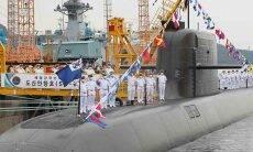 Coreia do Sul recebe submarino capaz de lançar mísseis balísticos. Foto: Divulgação/Diário de Defesa da Coreia