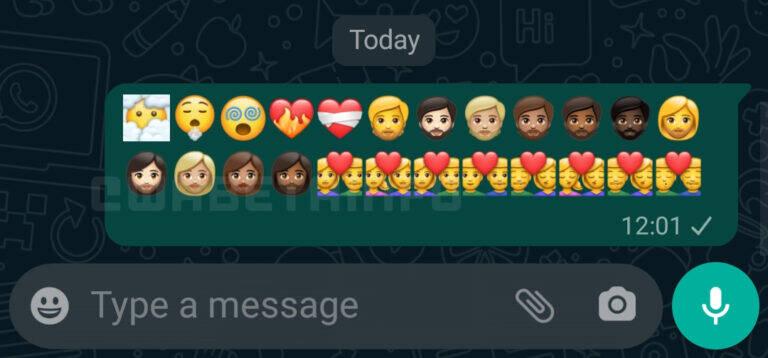 Versão beta do WhatsApp para Android traz novo pacote de emojis