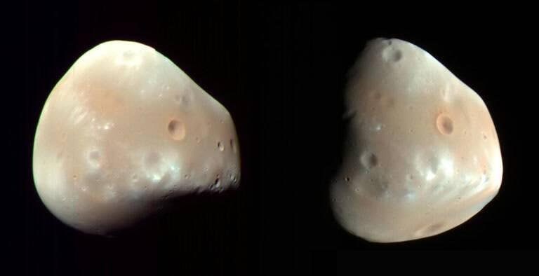 Robô Perseverance registra uma das estranhas luas de Marte