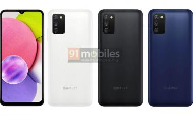 Samsung Galaxy A03 tem configurações reveladas antes do lançamento