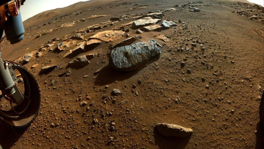 Amostras de rocha colhidas em Marte podem ser de origem vulcânica