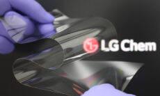 LG desenvolve novo material dobrável para telas de celulares
