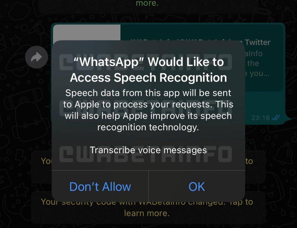 WhatsApp estuda recurso de transcrição de áudios