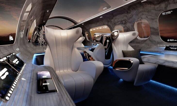Empresa cria projeto de cabine de avião sem janelas