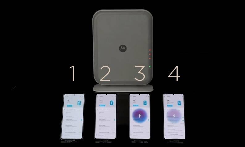 Motorola mostra carregador sem fio par até quatro celulares