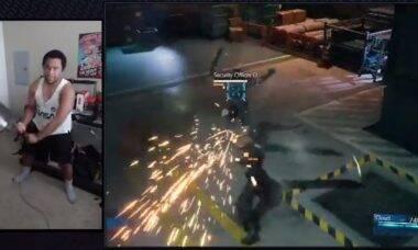 Jogador cria controle em forma de espada para jogar Final Fantasy 7 Remake