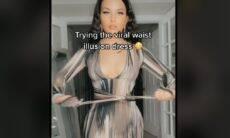 TikTok: vestido viraliza com ilusão de ótica que 'afina' cintura
